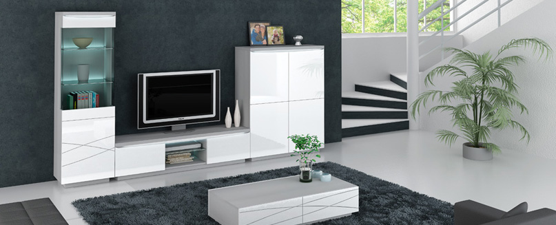 Meuble tv plaza animovel home center for Meuble living sejour