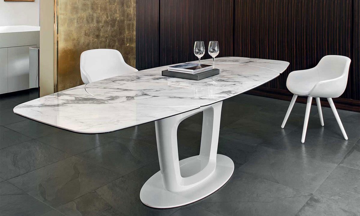 Table de repas orbital extensible calligaris home center for Tavoli conforama