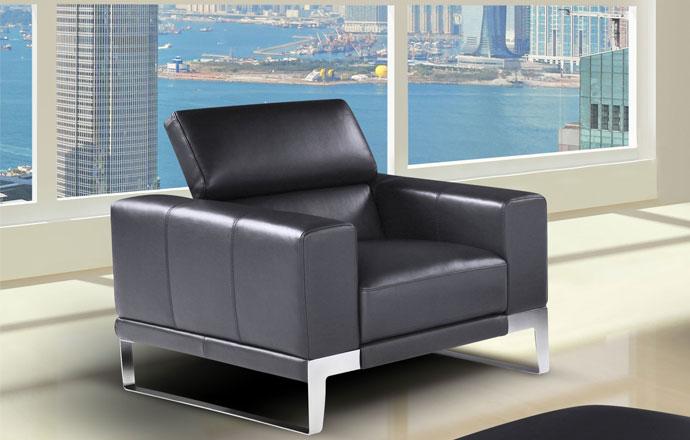 fauteuil cuir domus nicoletti 1 place home center. Black Bedroom Furniture Sets. Home Design Ideas