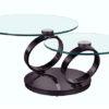 Table basse articulée Olympe Nickel noir ouverte - Eda Concept
