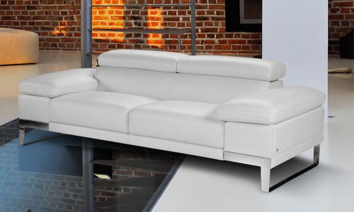 Canapé en cuir Bianco Puro 370 - Domus Nicoletti
