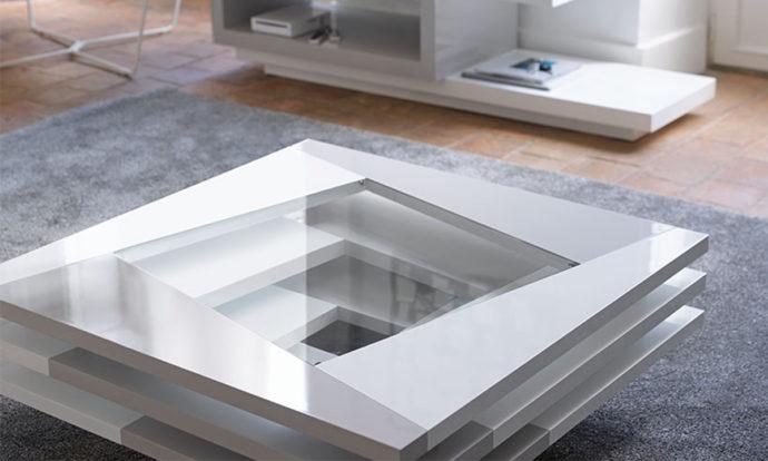 Table basse carrée en verre - Antoine Motard