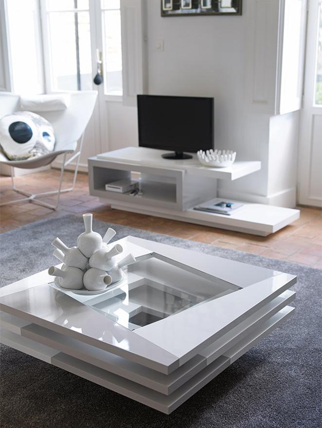 table basse carr e city antoine motard home center. Black Bedroom Furniture Sets. Home Design Ideas