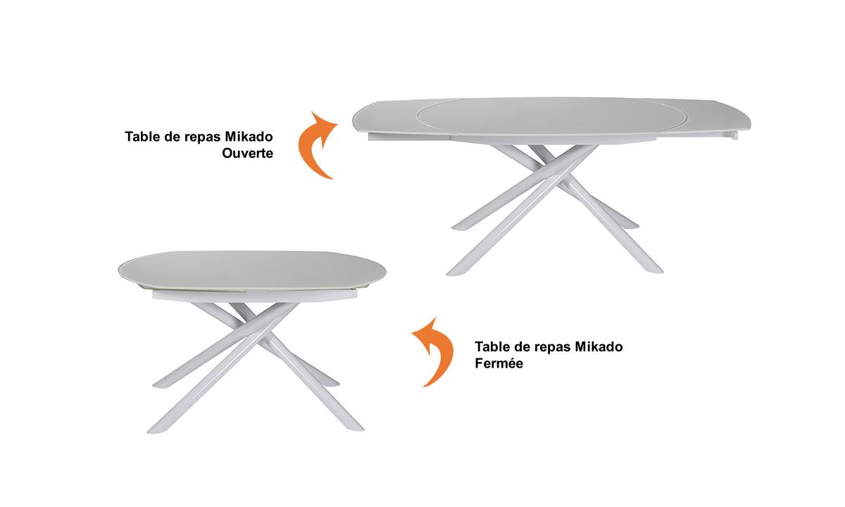 TABLE DE REPAS EN VERRE MIKADO EDA CONCEPT 1