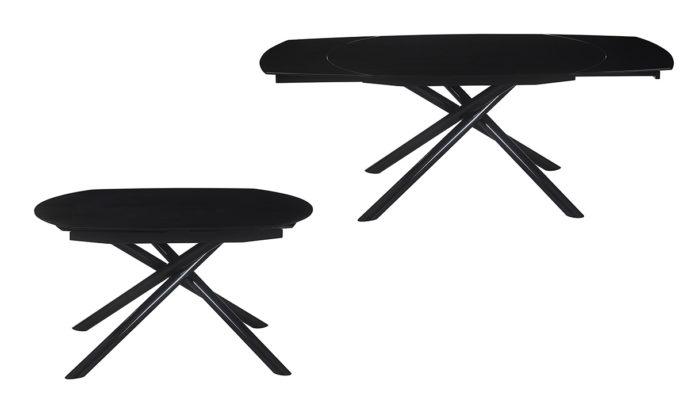 Table de repas noir Mikado EDA Concept
