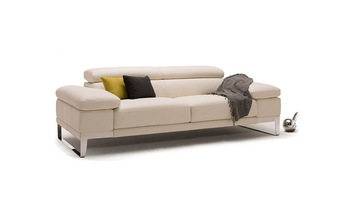Canap cuir domus nicoletti 2 3 places home center - Cuir center canape 2 places ...