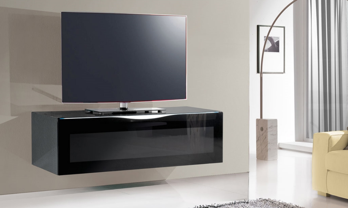 meuble tv bois suspendu meuble tv pour grand ecran plat of. Black Bedroom Furniture Sets. Home Design Ideas