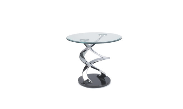 Table d'appoint en verre Cyclone Eda Concept