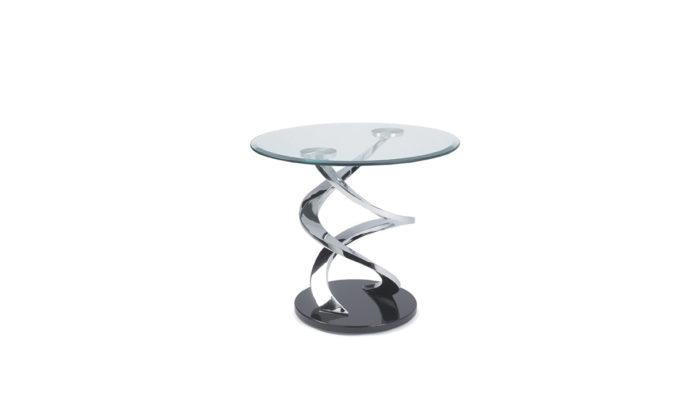 Table d'appoint en verre Cyclone Eda Concept