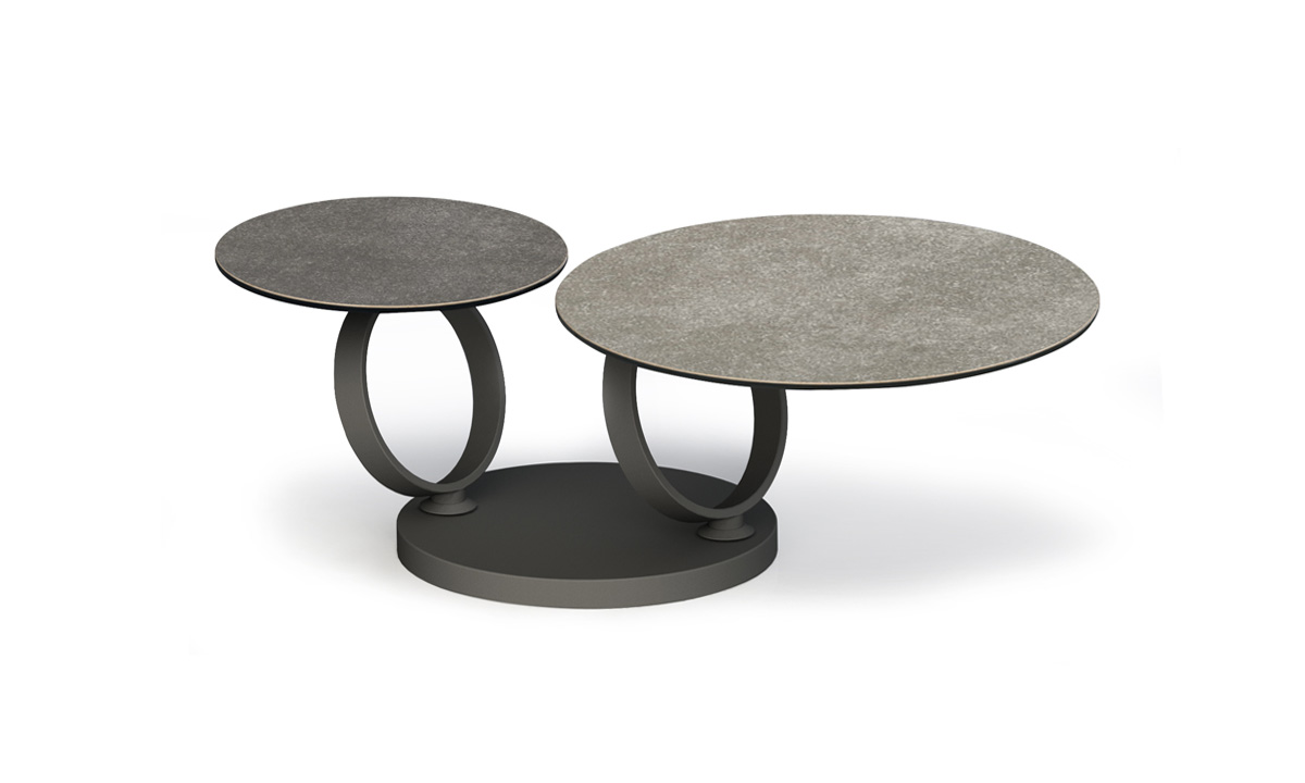 Table basse c ramique ronde articul e basilos c baakal - Table basse ceramique design ...