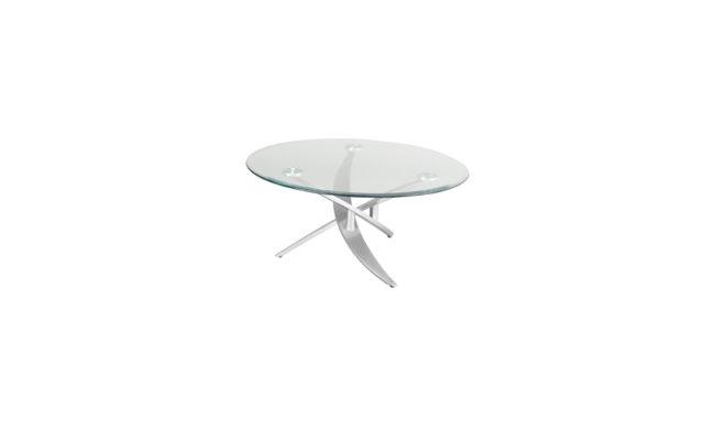 Table basse ronde en verre Bambou de EDA Concept