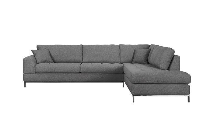 Canapé angle méridienne gris MILANO