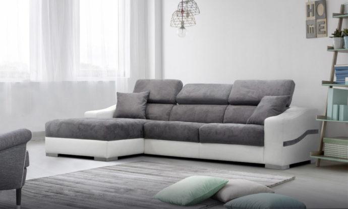 Canapé d'angle chaise longue GARDEN - Poldem