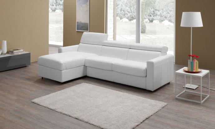 Canapé d'angle convertible cuir MORRIS - Altoni Leather