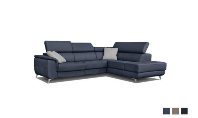 Canapé d'angle en tissu FABIEN - Poldem