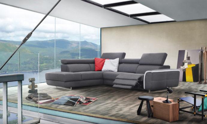 Canapé d'angle relax LENO - Poldem