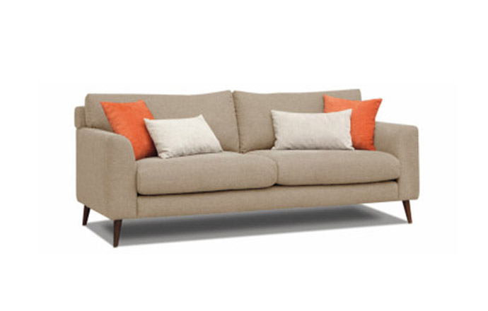 Canapé style scandinave DAVE 2 places - Taupe