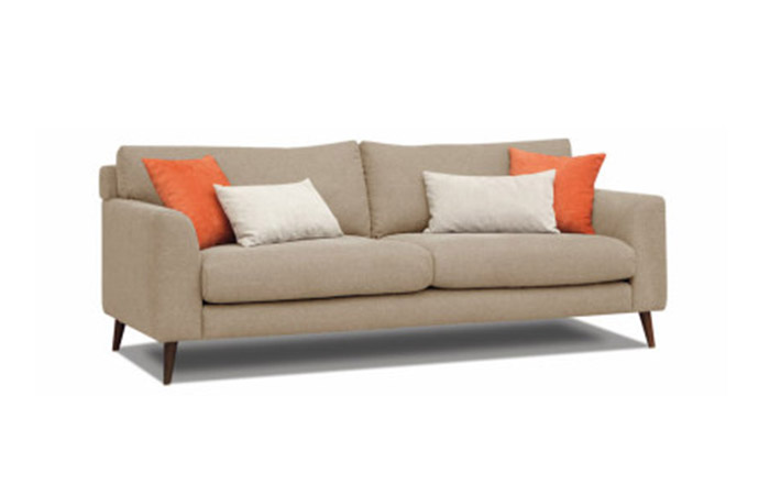 Canapé style scandinave DAVE 3 places - Taupe