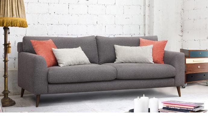 Canapé style scandinave DAVE Gris foncé