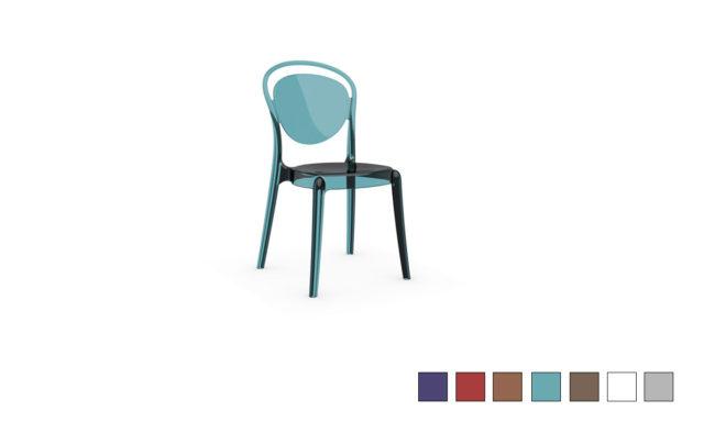Chaise en polycarbonate PARISIENNE de Calligaris
