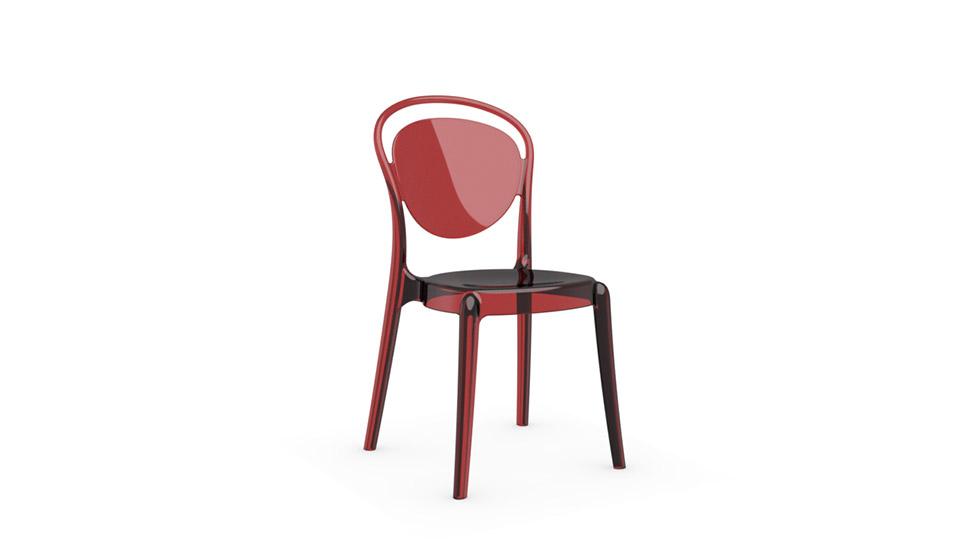 chaise en polycarbonate parisienne calligaris home center. Black Bedroom Furniture Sets. Home Design Ideas