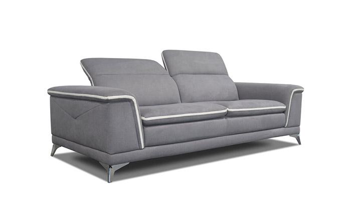 Canapé 2 places en tissu avec têtière CALIFORNIA by Home Center