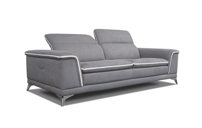 Canapé 3 places en tissu avec têtière CALIFORNIA by Home Center