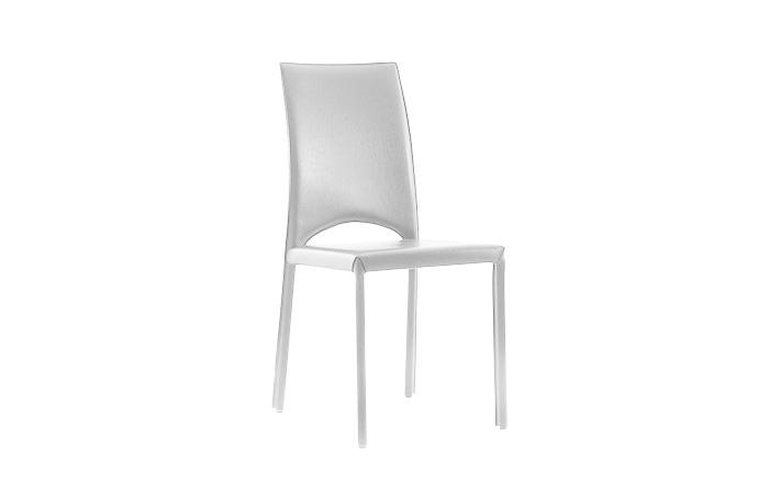 Chaise cuir MARY de chez COMPAR - Blanc