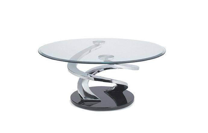 Table Basse Ronde En Verre.Table Basse Ronde En Verre Tornade De Eda Concept
