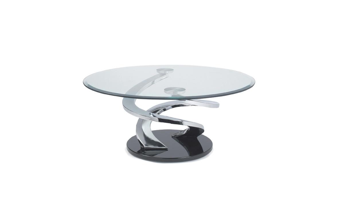 TABLE BASSE RONDE EN VERRE – TORNADE DE EDA CONCEPT 1
