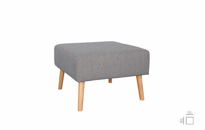 Pouf gris - OSLO by Home Center