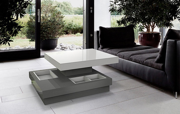 Table basse Celia MDF Gris - Akante