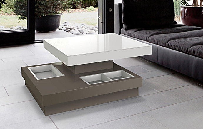 Table basse Celia MDF Taupe - Akante
