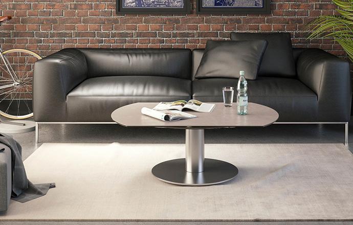 Table basse extensible céramique argile Luna FERMÉE - AKANTE