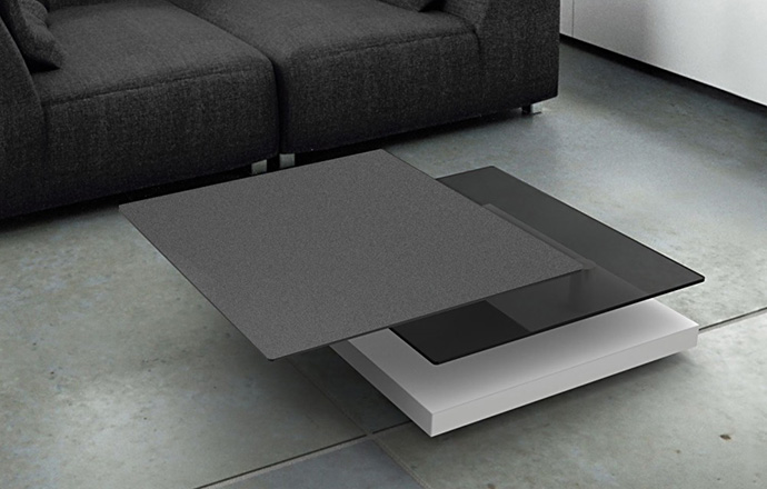 Table basse céramique anthracite - Sophia d'AKANTE