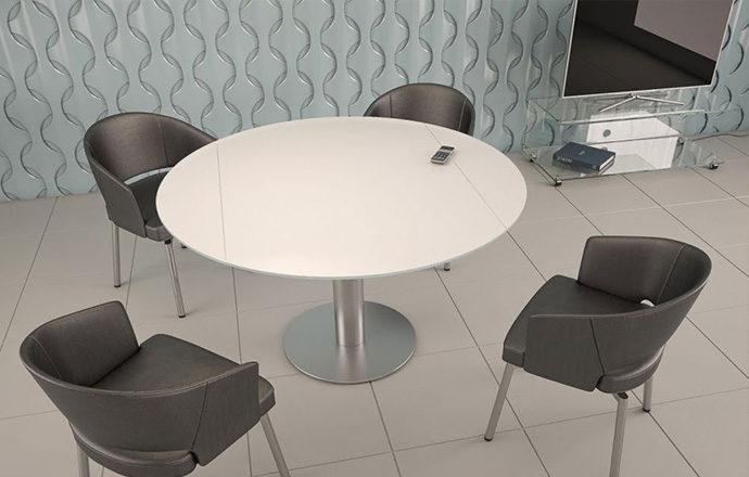 Table de repas extensible LUNA céramique laqué blanc dépoli - Akante