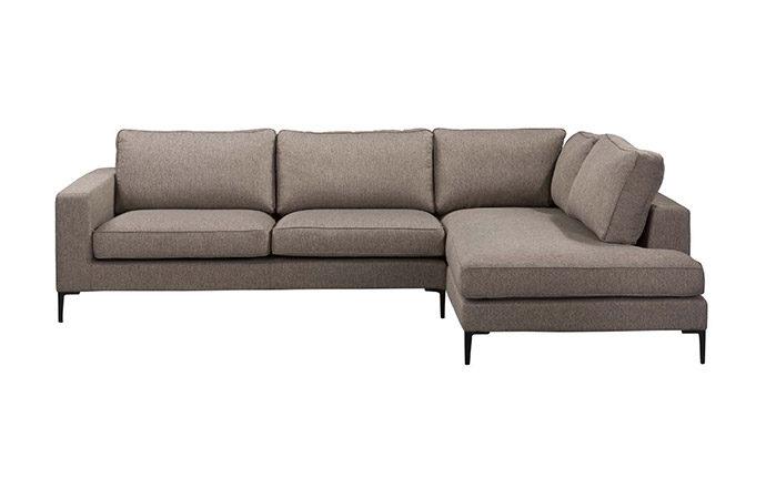 Canapé d'angle à droite vue de face LIDO