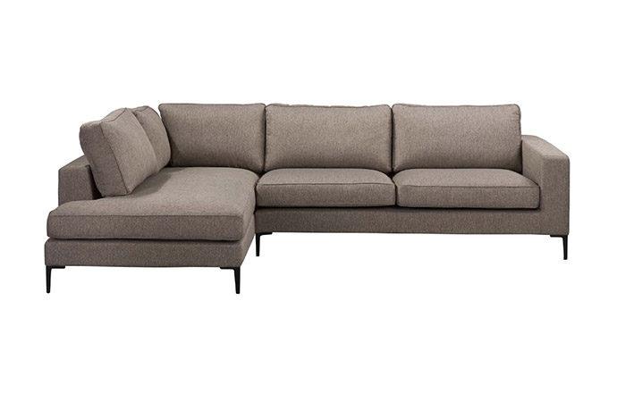 Canapé d'angle à gauche vue de face LIDO