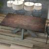 Table de repas extensible céramique acier OTTAWA de chez Akante - fermée