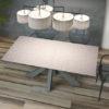 Table de repas extensible céramique argile OTTAWA de chez Akante - fermée
