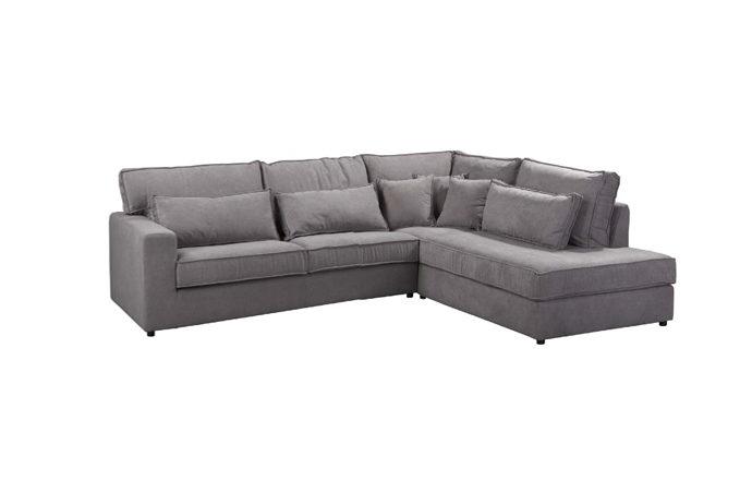 Canapé d'angle gris - Bologna