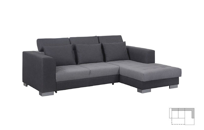 Canapé d'angle convertible couchage - TORINO