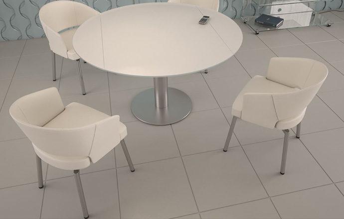Chaise pivotante HELIO blanc - Akante
