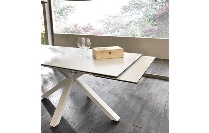 Table de repas extensible céramique blanc - ASTBURY by Home Center