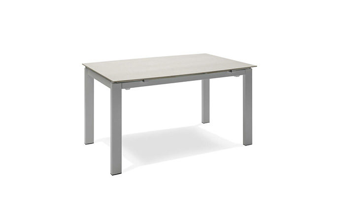 Table repas extensible verre beige - BIRMINGHAM by Home Center