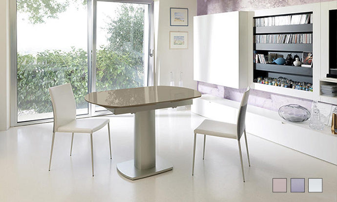 Table repas extensible verre taupe - LONDON by Home Center