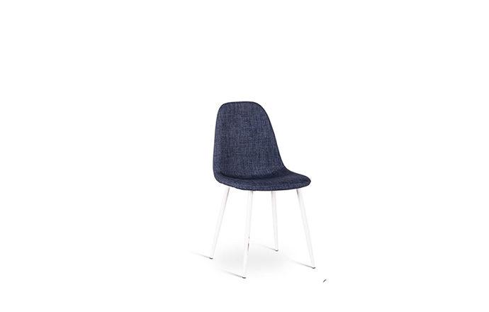 Chaise en tissu bleu foncé JULIA