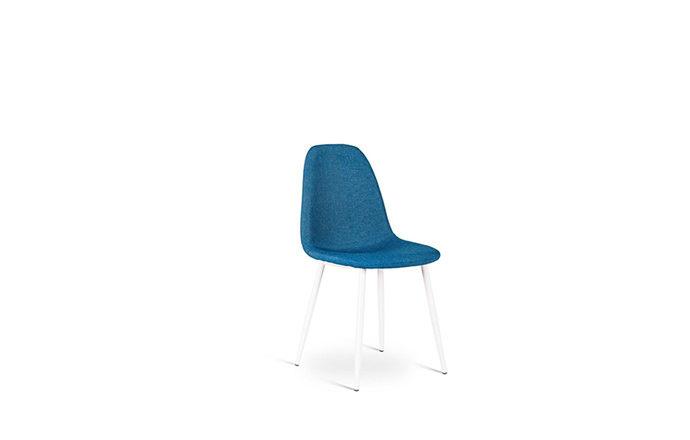 Chaise en tissu bleu JULIA