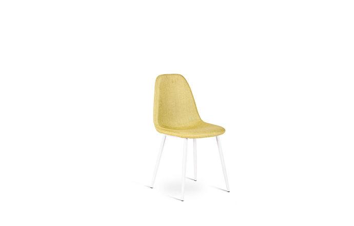 Chaise en tissu jaune JULIA