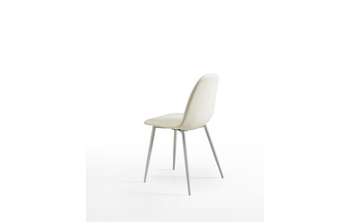 Chaise simili cuir blanc Julia